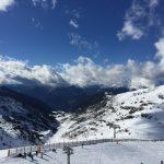 Mountains and slopes of the ski resort of Andorra la Vella